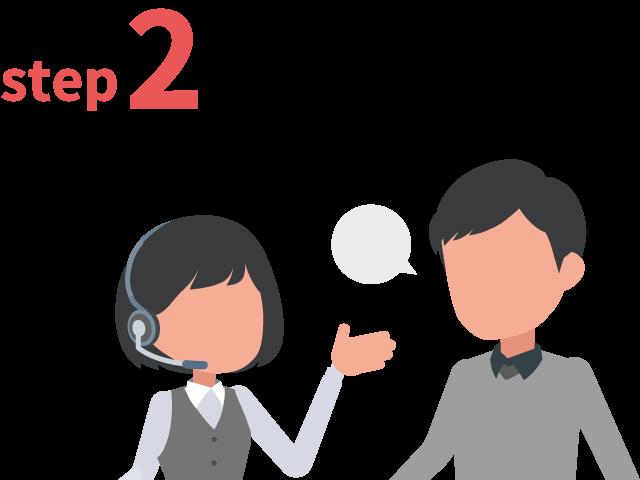 ご登録からお仕事までの流れ ステップ2 条件のご相談
